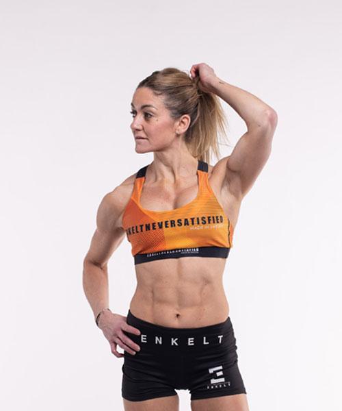 Sport BH Black/Orange Never Satisfied