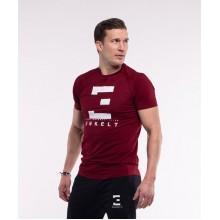 T-Shirt Winered/White SlimFit